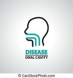 cavidade oral, ícone, e, símbolo