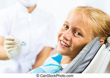 cavité, oral, inspection