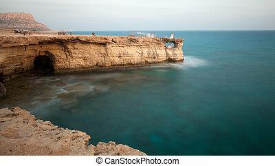 Cavo Greco or Cape Greco sea caves, Cyprus - Cavo Greco or...