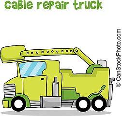 cavo, riparazione, verde, camion, collezione