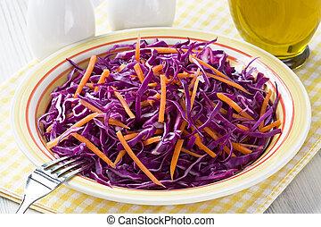 cavolo rosso, insalata