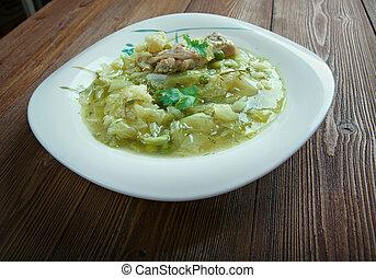 cavolo, zuppa, di