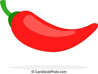 Cayenne pepper flat icon vector isolated - One red cayenne ...