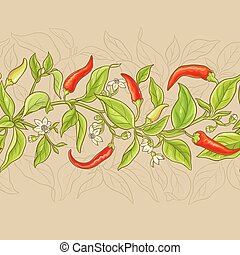 cayenne pepper pattern - cayenne pepper branches pattern on ...