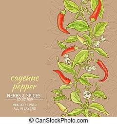 cayenne pepper vector background - cayenne pepper vector ...