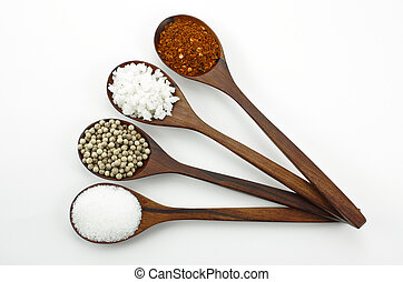 cayenne poivre, sel, sucre