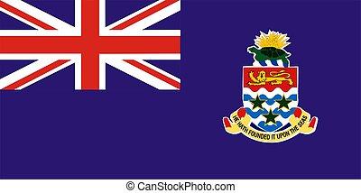 2D illustration of Cayman Islands flag color vector