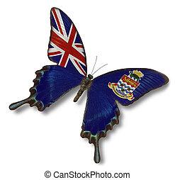 Cayman Islands flag on butterfly