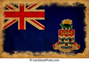 Cayman Islands grunge flag