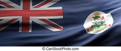 Cayman Islands national flag waving texture background. 3d illustration