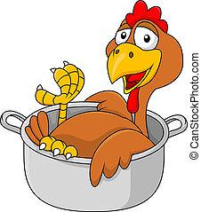 cazo, pollo