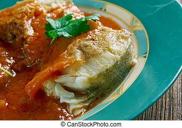 cazuela, de, pescado, colombiana