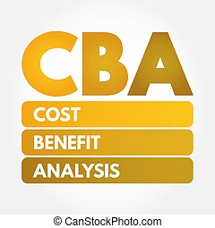 CBA - Cost-benefit Analysis acronym