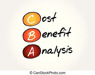 CBA - Cost-benefit Analysis, acronym