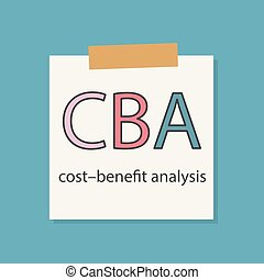 CBA (Cost benefit Analysis) written in a notebook paper-...