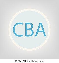 CBA (Cost?benefit Analysis) acronym- vector illustration