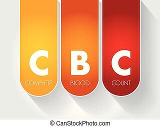 CBC - complete blood count acronym, concept background