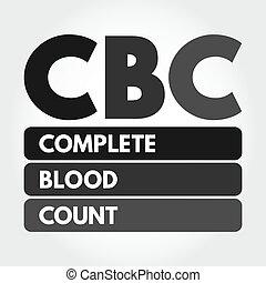 CBC - Complete Blood Count acronym concept - CBC - Complete ...