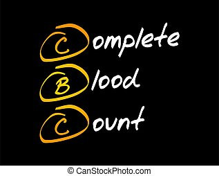 CBC - complete blood count acronym, medical concept ...