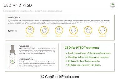 CBD and PTSD horizontal business infographic