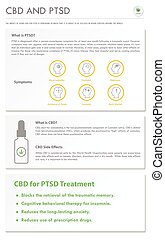 CBD and PTSD vertical business infographic illustration ...