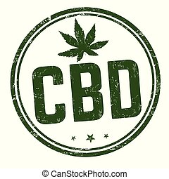 CBD ( Cannabidiol) sign or stamp on white background, vector...