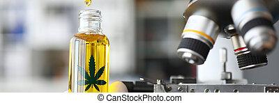 CBD oil in medical laboratory