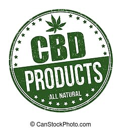 CBD products sign or stamp on white background, vector ...