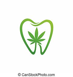 CBD vector with dentistry vector template