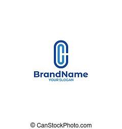 CC Church Logo Design Vector
