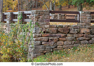 CCC Stone work - A stone fence constructed during the...