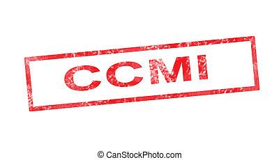 ccmi, timbre, rouges, rectangulaire