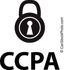 CCPA icon on white background. flat style. california consumer privacy act icon for your web site design, logo, app, UI. CCPA symbol. CCPA inscription with lock sign.