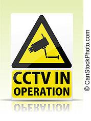 cctv, 在, 操作, 簽署