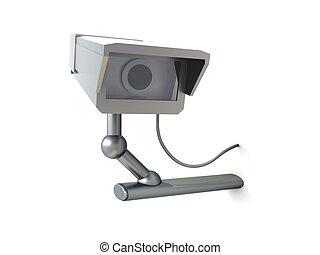 cctv, 監視, 凸輪