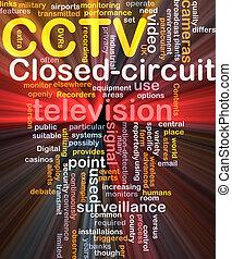 cctv, 詞, 雲, 箱子, 包裹