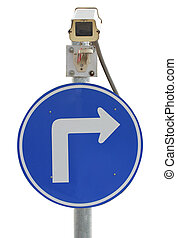 cctv and traffic sign