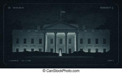 cctv, biały dom, w nocy