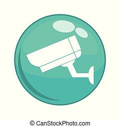 cctv camera button icon