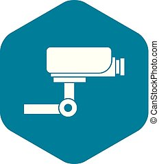 CCTV camera icon, simple style