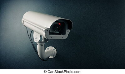 CCTV Camera On Wall Flashing Light Loop - CCTV camera on...