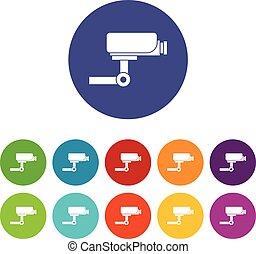 CCTV camera set icons