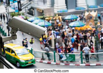 CCTV Camera surveillance on the big city