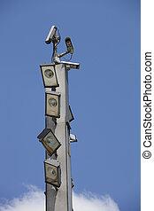 CCTV cameras and floodlights - Surveillance cameras and...