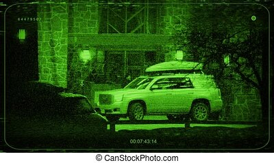 CCTV Car And People At Hotel