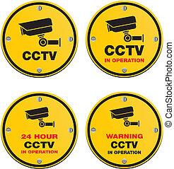CCTV circle sign