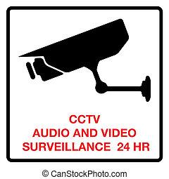 cctv, dźwiękowy, video inwigilacja