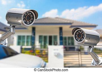 cctv, hjem, kamera, garanti, fungerer, hos, house.