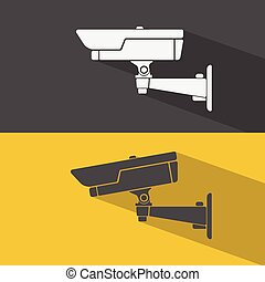 CCTV icons set.