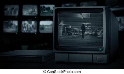CCTV Man In Parking Garage